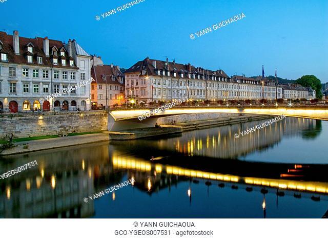 Quai Vauban, Besancon, Doubs,Franche-Comte,France
