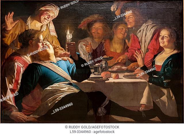 'Merry Company', 1622, Gerard van Honthorst (1592-1656)
