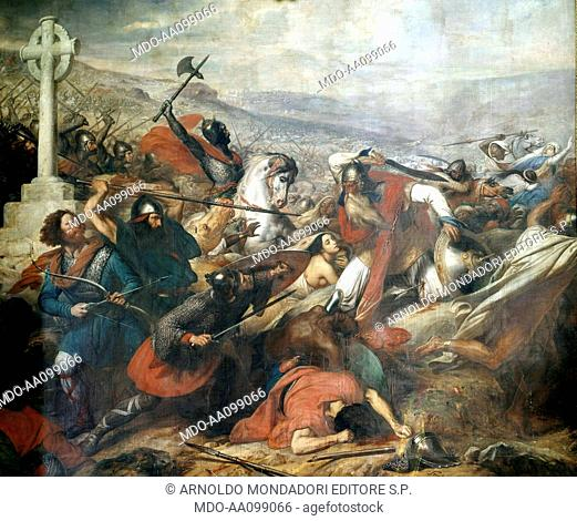 Battle of Poitiers in October 732 (Bataille de Poitiers en octobre 732), by Charles de Steuben, 1834, 19th Century