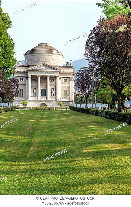 Tempio Voltiano (Volta Temple), a museum in Como, Italy, that is dedicated to Alessandro Volta, a scientist and the inventor of the electrical battery