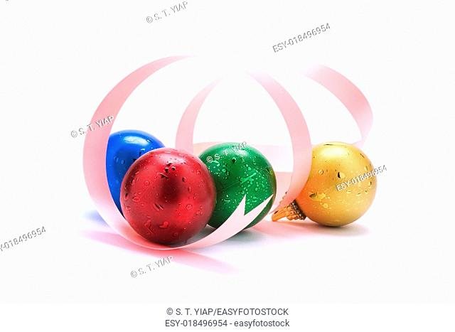 Christmas decorations with dropout background