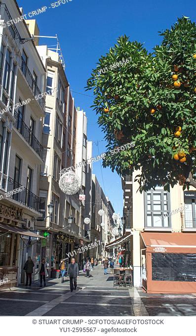 View of the Calle de la Trapezia in Murcia Spain