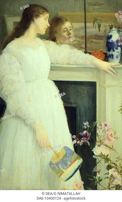 The girl in the white dress,1864, by James Abbot McNeill Whistler (1834-1903).  London, Tate Gallery