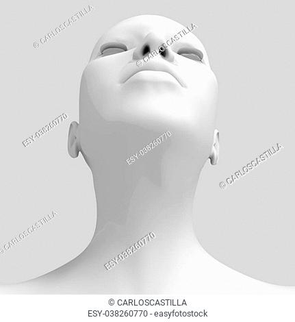 3d image of woman s head