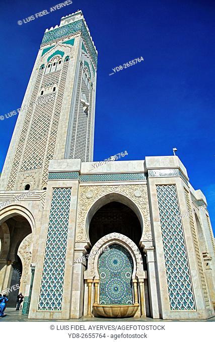 Hassan II Mosque Tower, Casablanca, Morocco