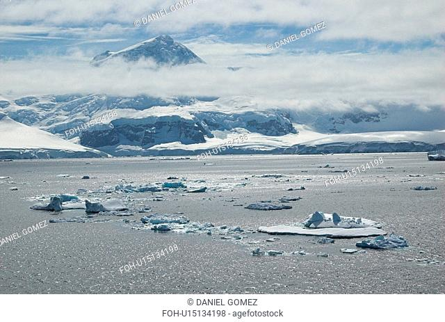 Gerlache Strait in the afternoon, Antarctic Peninsula