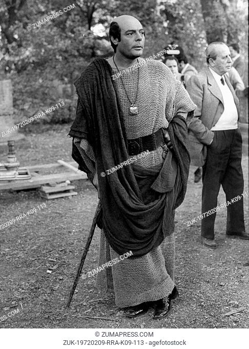 June 1, 1972 - Rome, Italy - Actor MARCELLO MASTROIANNI in costume as Scipione l'African on set of the film, 'Scipio the African