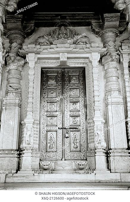 Temple door in Udaipur in India
