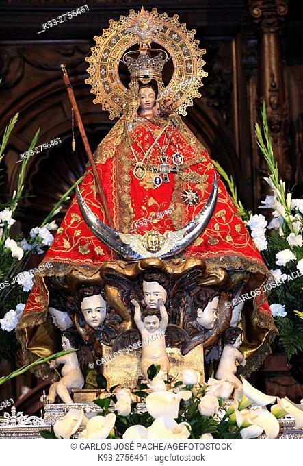 Image of the Virgen de la Montaña (Virgin of the Mountain), patroness saint of Cáceres. Extremadura, Spain