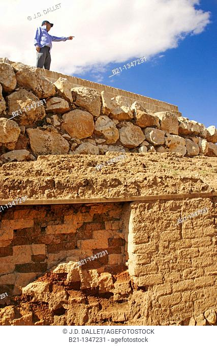 Syria, Ebla, walls of the Western Palace, 4-3.000 B.C