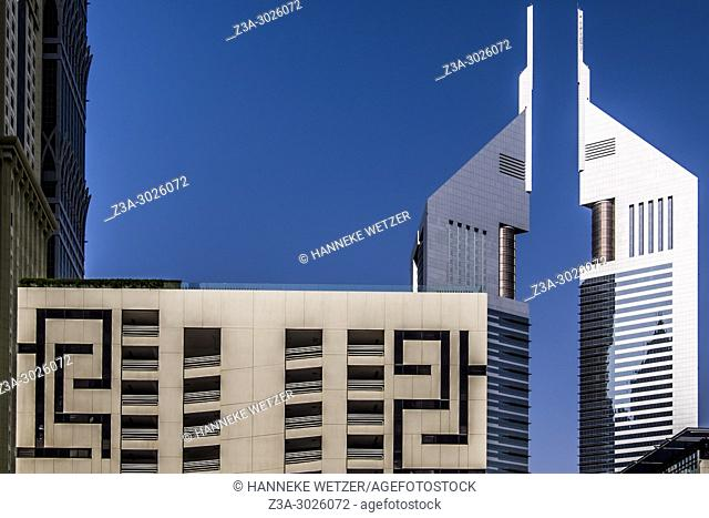 The Maze and the Jumeirah Emirates Tower at the WTC in Dubai, UAE