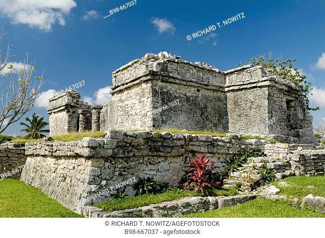 Mexico, Riviera Maya, Mayan Ruins at Tulum