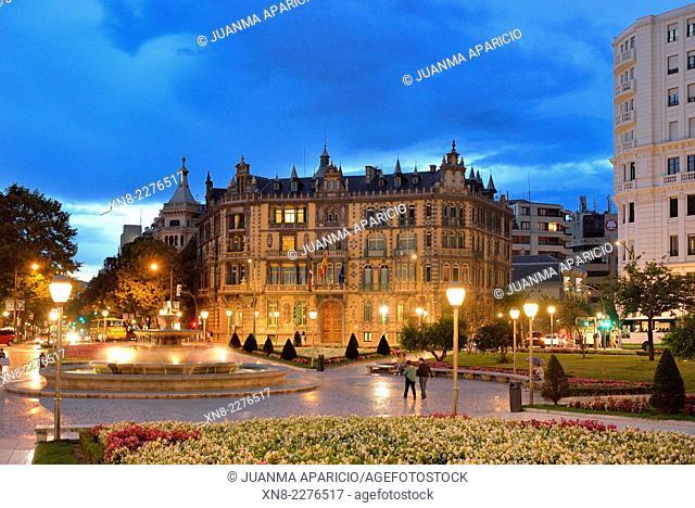 Plaza Moyua, Bilbao, Biscay, Basque Country, Euskadi, Spain, Europe