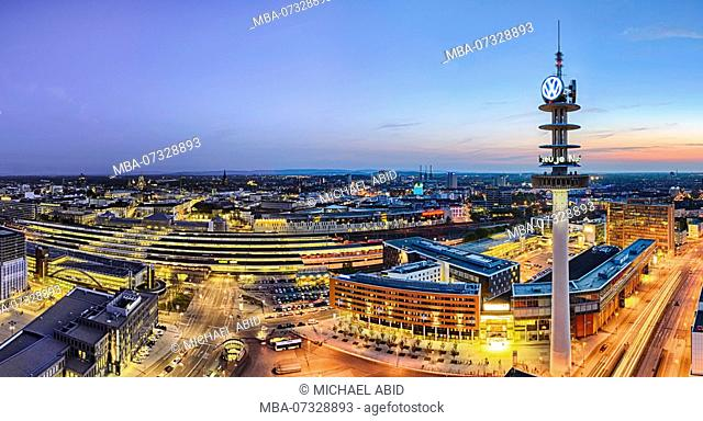 Skyline panorama of Hannover, Germany