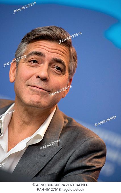 The actor George Clooney attends the press conference for 'The Monuments Men' during the 64th annual Berlin Film Festival, in Berlin, Germany, 08 February 2014
