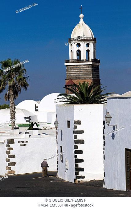 Spain, Canary islands, Lanzarote island, Senora de la Guadaloupe church in Teguise town the old capital island