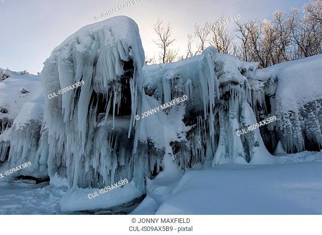 Winter landscape, Abisko, Sweden