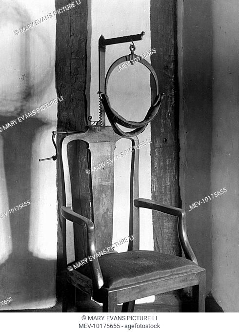 A 'Scold's Bridle', an old form of feminine torture, at the Wakeman's House, Ripon, Yorkshire, England