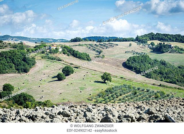 Image near Pienza with beautiful landscape in Tuscany, Italy