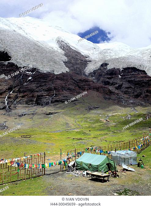 Karola Glacier (5560 m), Shannan Prefecture, Tibet, China