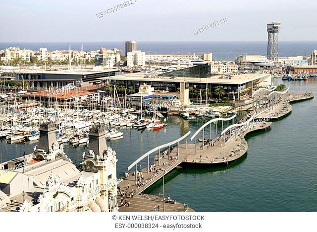 Rambla de Mar. Barcelona. Catalonia. Spain