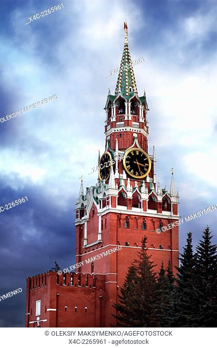 Spasskaya Tower, Saviour Tower of the Kremlin at the Red square, Moscow, Russian Federation