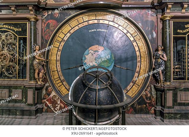 Astronomical clock of the Strasbourg Cathedral, Strasbourg, Alsace, France