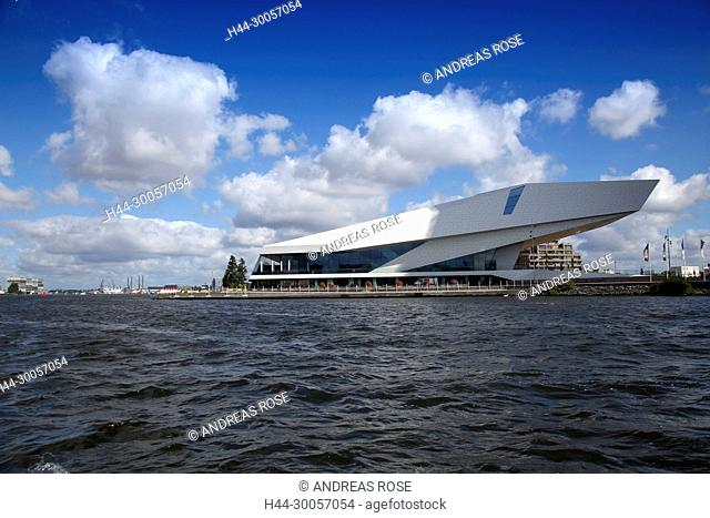 The building of the modern culture center eye Film Museum, Amsterdam, Holland, Netherlands