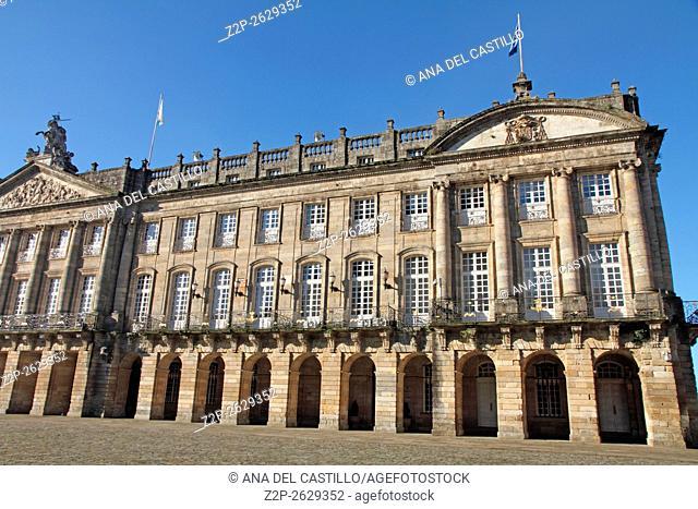 Raxoi palace Santiago de Compostela Galicia Spain