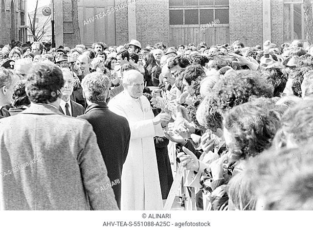 The visit of Pope John Paul II (Karol Wojtyla) to Terni steelworks, shot 19/03/1981 by Rossi, Ferdinando for Team