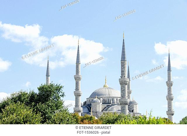 Blue Mosque against sky