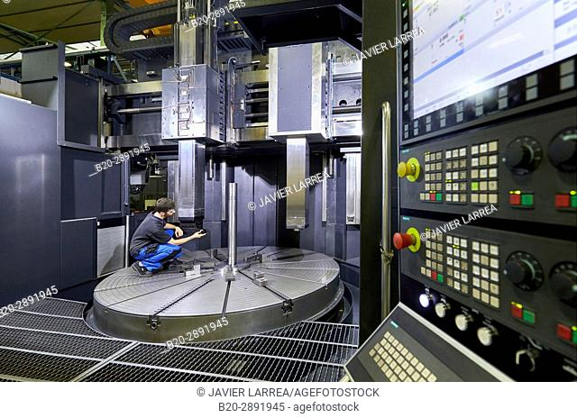 Machining Centre. CNC. Vertical lathe. Design, manufacture and installation of machine tools. Gipuzkoa, Basque Country, Spain, Europe