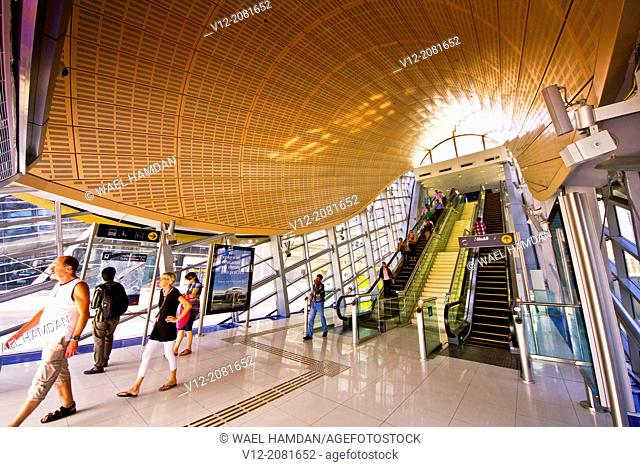 Dubai Internet city, Metro Station, Dubai, United Arab Emirates, Middle East