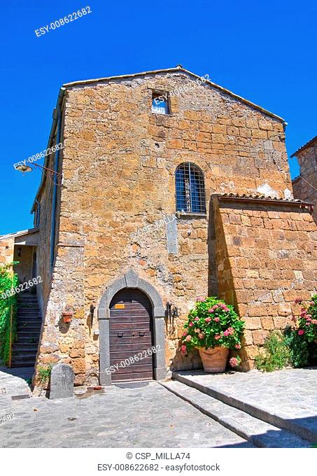Alleyway. Civita di Bagnoregio. Lazio. Italy