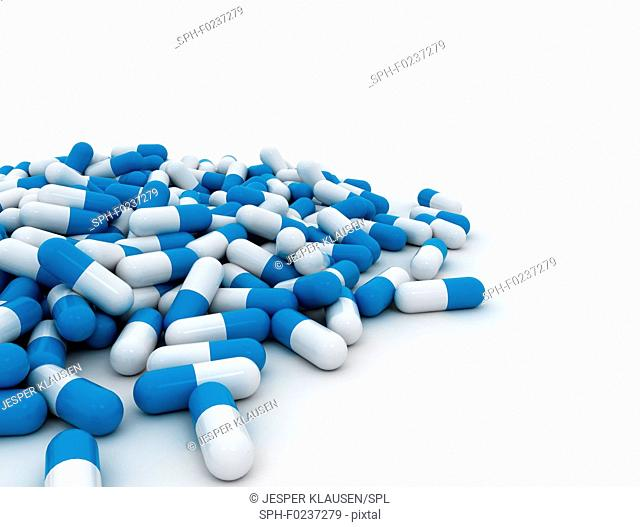 Blue pills, illustration