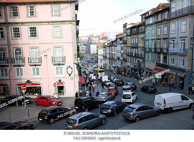 Rua dos Clerigos in Porto in Portugal