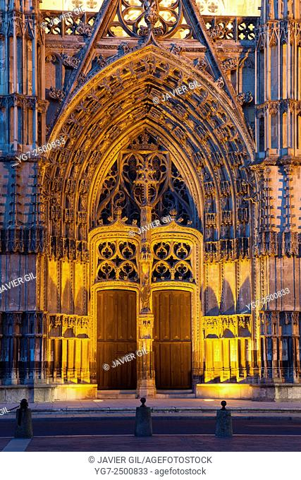 Entrance of the Cathedral of Tours, Indre-et-Loire, France