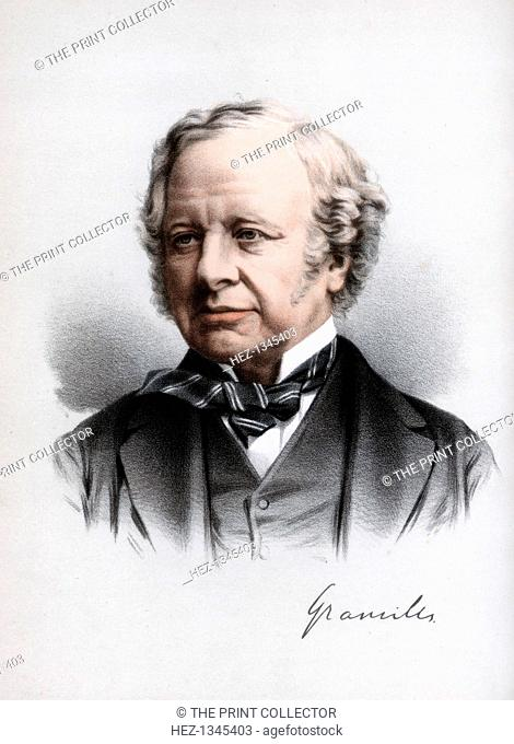 Granville Leveson-Gower, 2nd Earl Granville, British Liberal statesman, c1890. Earl Granville (1815-1891) held various ministerial posts in Liberal governments...