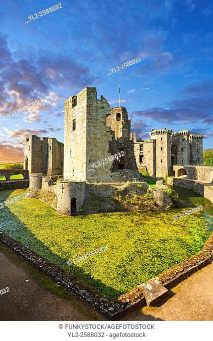 Raglan Castle (Welsh: Castell Rhaglan) a late medieval castle built by Sir William Thomas in the mid 1400â. . s. Raglan Castle , Monmouthshire, Wales