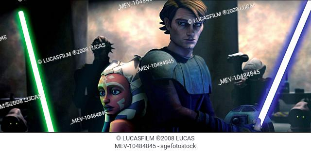 STAR WARS: THE CLONE WARS Padawan learner Ahoska and Jedi mentor Anakin Skywalker find themselves in a perilous situation