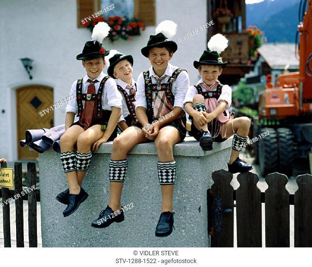 Bavaria, Boys, Carefree, Column, Europe, European, Friends, German, Germany, Europe, Hats, Holiday, Landmark, Laugh, Laughing, L