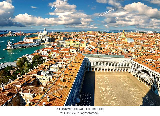 St Marks' Square from the Campinal of St Marks, Venice, Italy