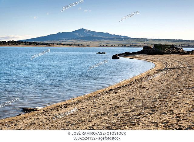Santillana reservoir and San Pedro hill. Manzanares el Real. Madrid. Spain. Europe