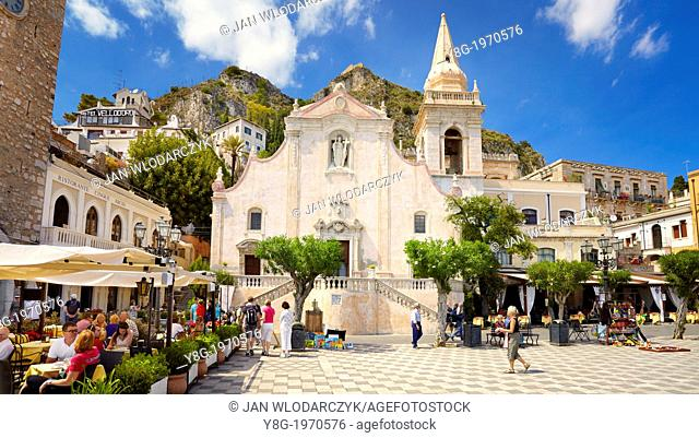 Church of San Giuseppe, Piazza 9 Aprile, Taormina old town, Sicily, Italy