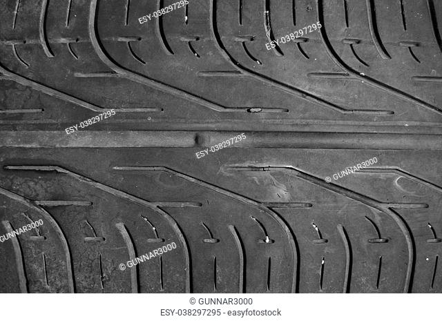 texture surface or pattern of black tyre as background