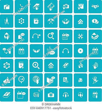 Set of 49 Universal Icons. Simple Flat Style. Business, internet, web design