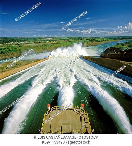 Spillways, Itaipú Dam, Brazil/Paraguay