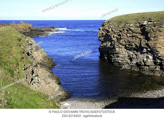 Yesnaby cliffs area, Stromnessr, Orkney, Scotland, Highlands, United Kingdom