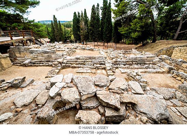Palace of the Minoans, excavations, Palace of Knossos, ancient city of Knossos, Heraklion, Knossos, Crete, Greece, Europe