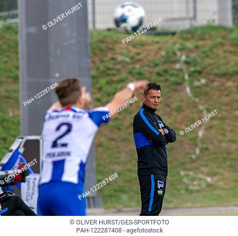 coach Ante Covic (Hertha BSC), left 2 Peter Pekarik (Hertha BSC) GES / football / KSC blitz tournament: SK Sturm Graz - Hertha BSC Berlin, 13.07